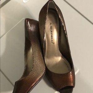 A. Marinelli peep toe heels